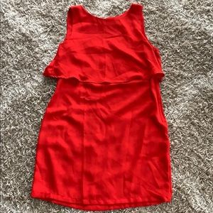 Red cape dress from H&M, sz 12, perfect condition!